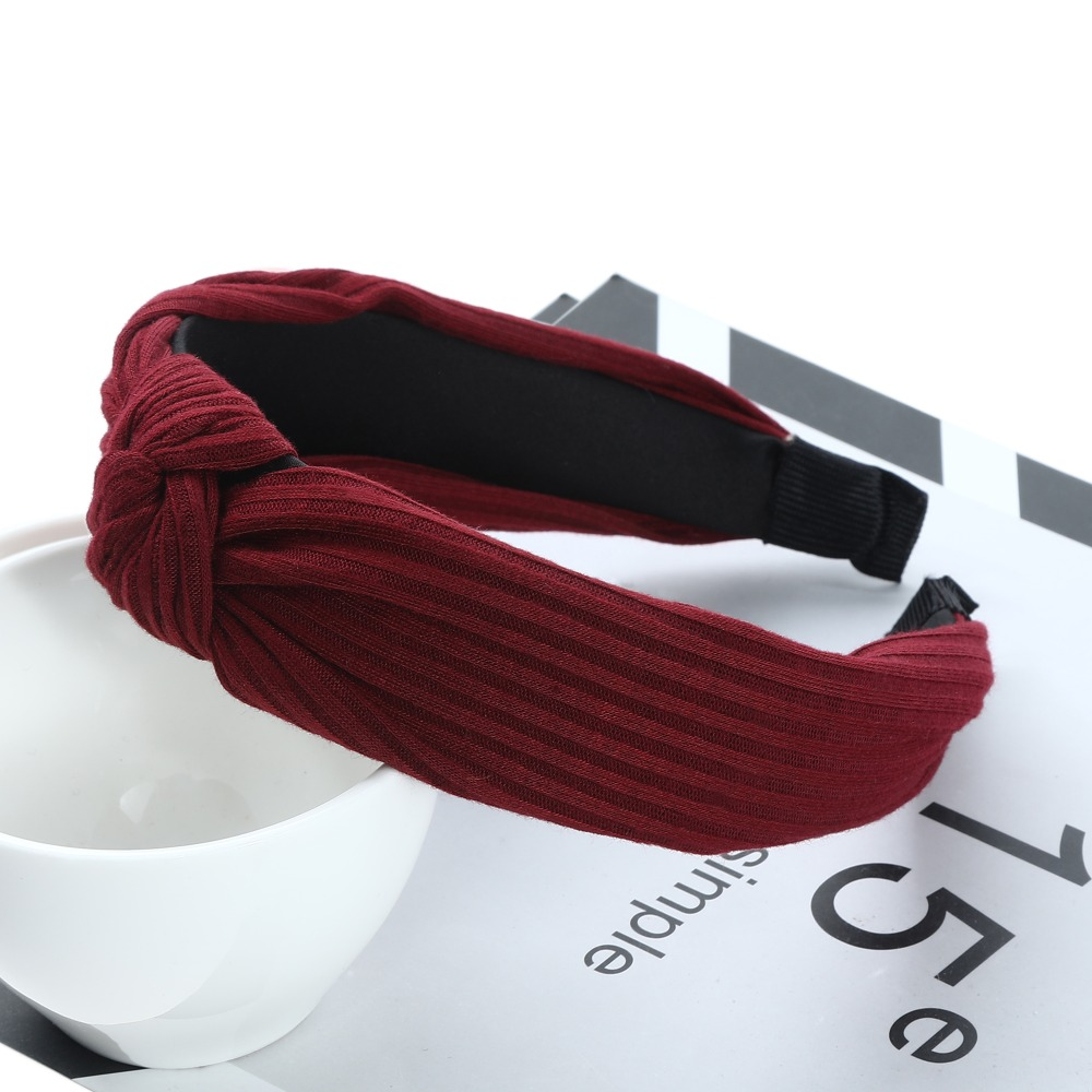 Haimeikang Women Hairbands 2019 New Fashion Girls Vintage Knitting Twisted Knotted Headband Wide Hair Bands Headwear Accessories in Women 39 s Hair Accessories from Apparel Accessories