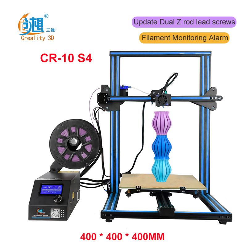 High Quality Precision Prusa I3 Creality CR-10S Plus 400*400* 400mm 3d Printer Metal Frame Linear Guide Rail For XZY Axix