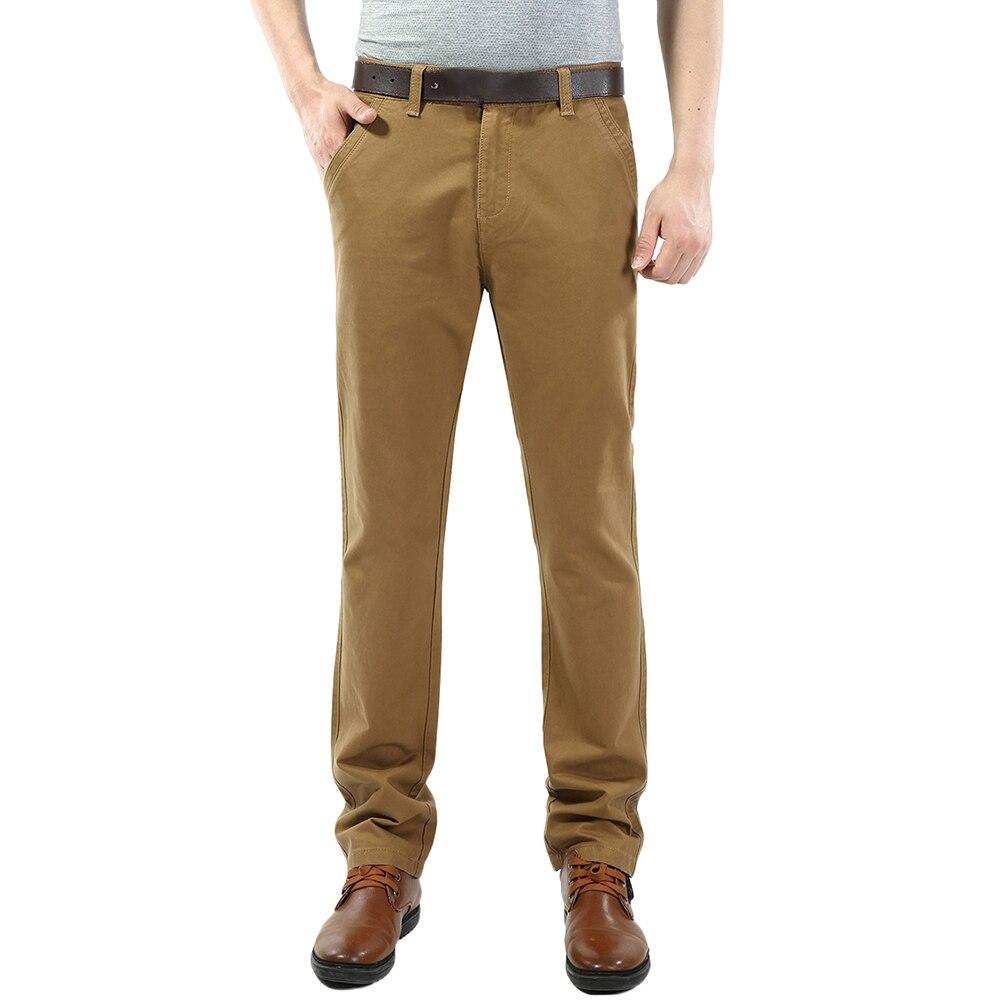 Comprar VOMINT 2019 Pantalones Hombres De Tela Sarga Algodón