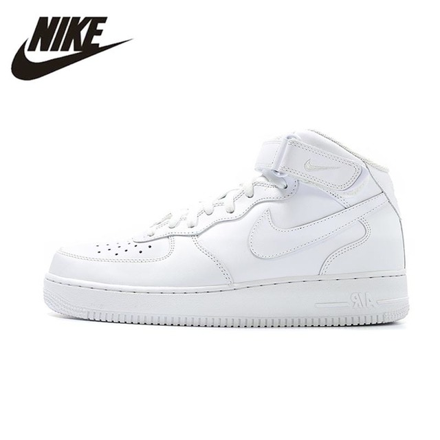 NIKE AIR FORCE 1 MID AF1 Mens Basketball Shoes Stability Support Sports  Sneakers For Men Shoes 315123-111 5475e46f7