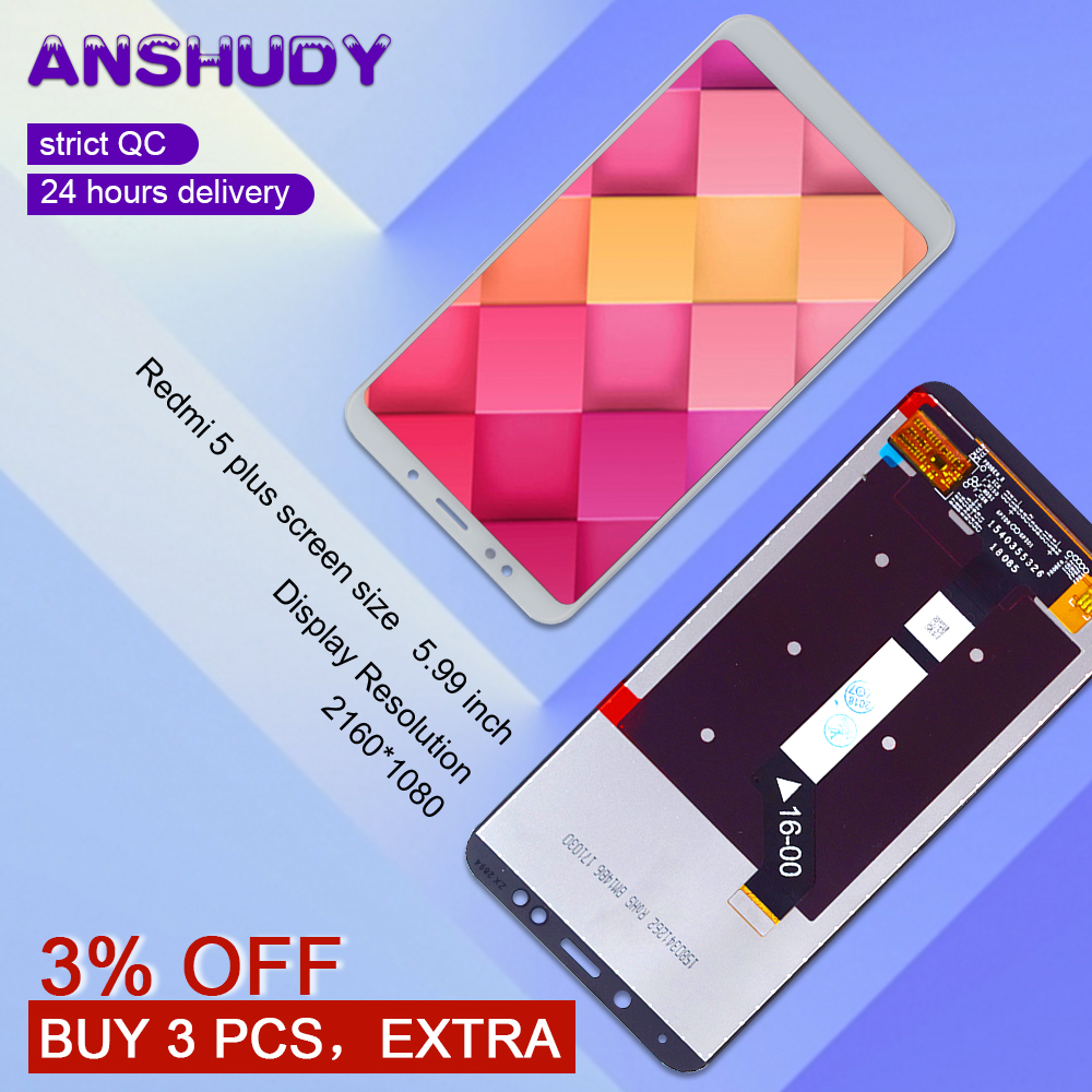5.99 For Xiaomi Redmi 5 Plus LCD Display Touch Screen Digitizer Assembly For Xiaomi Redmi 5 Plus Display Screen Replacement