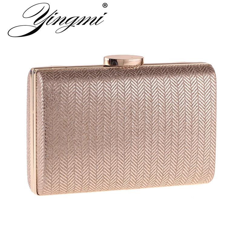 YINGMI Fashion Women Clutch Bags Chain Shoulder Small Day Clutch Gold/silver/black/red Color Party Wedding Handbags Evening Bag 2018 women satin rhinestone evening clutch bags ladies day fashion purses chain handbags bridal wedding party bolsas mujer 2t