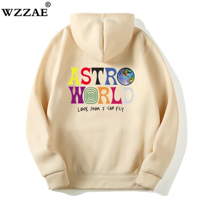 Fashion Letter ASTROWORLD HOODIE street wear Man woman Pullover Sweatshirt 48