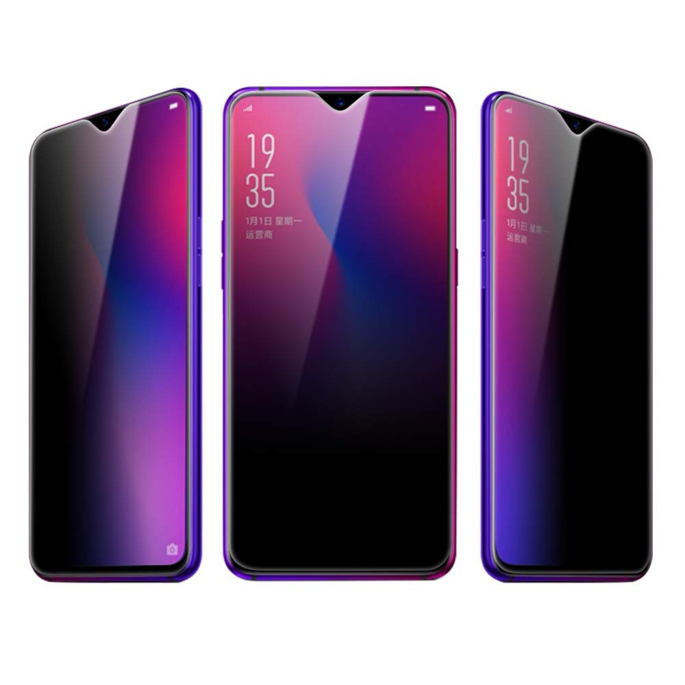 US $1 74 30% OFF|9H Anti Peeping Tempered Glass For OPPO F9 For OPPO R17  R17 Pro Privacy Screen Portector For OPPO f9 PRO Front Protective Film-in