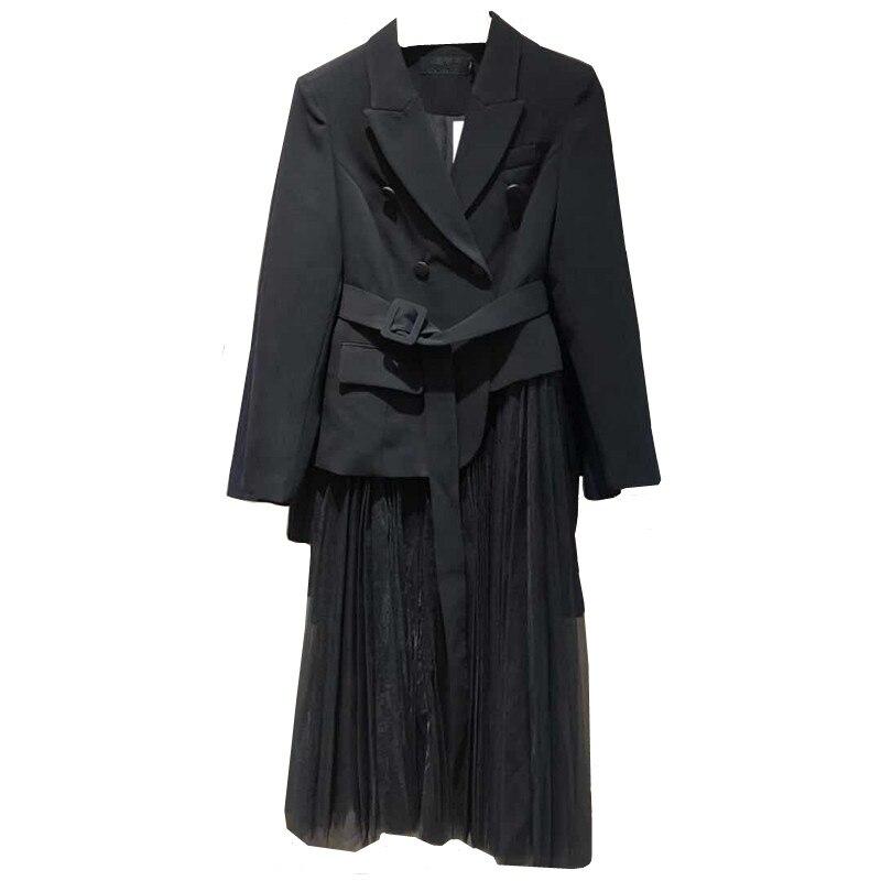Vêtements Coréenne Robes Robe Black Tenue Vintage Maille Fête De D'été 2019 Femme Femmes Zt1932 Élégants Printemps 8qav7xv