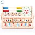 XFC New Baby Kids Preschool Juguete Educativo de Aprendizaje Temprano Bolas De Madera Matemáticas Ábaco Alfabeto Reloj de Juguete de Regalo