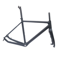 Cyclo Cross Carbon Bike Frame Matt Black 51 53 55cm BSA Road Bicycle Disc Frame Full