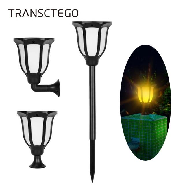 led solar torch light flame lighting waterproof outdoor lantern lawn