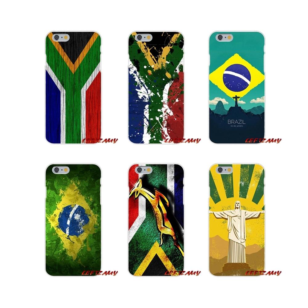 África del Sur de Aruba Brasil Bandera de diseño de estilo para Huawei P Smart Mate Y6 Pro P8 P9 P10 Nova P20 Lite funda de teléfono Pro Mini 2017