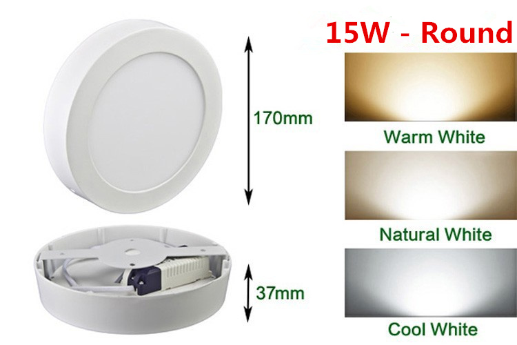 HTB10jV8acrrK1RjSspaq6AREXXa3 LED Surface Ceiling Light 9W 15W 25W Ceiling Lamp AC85-265V Driver Included Round Square Indoor Panel Light For Home Decor