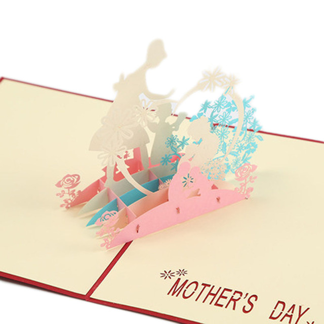 thanksgiving mothers day 3d stereo creative greeting cards handmade kind mother gift cards