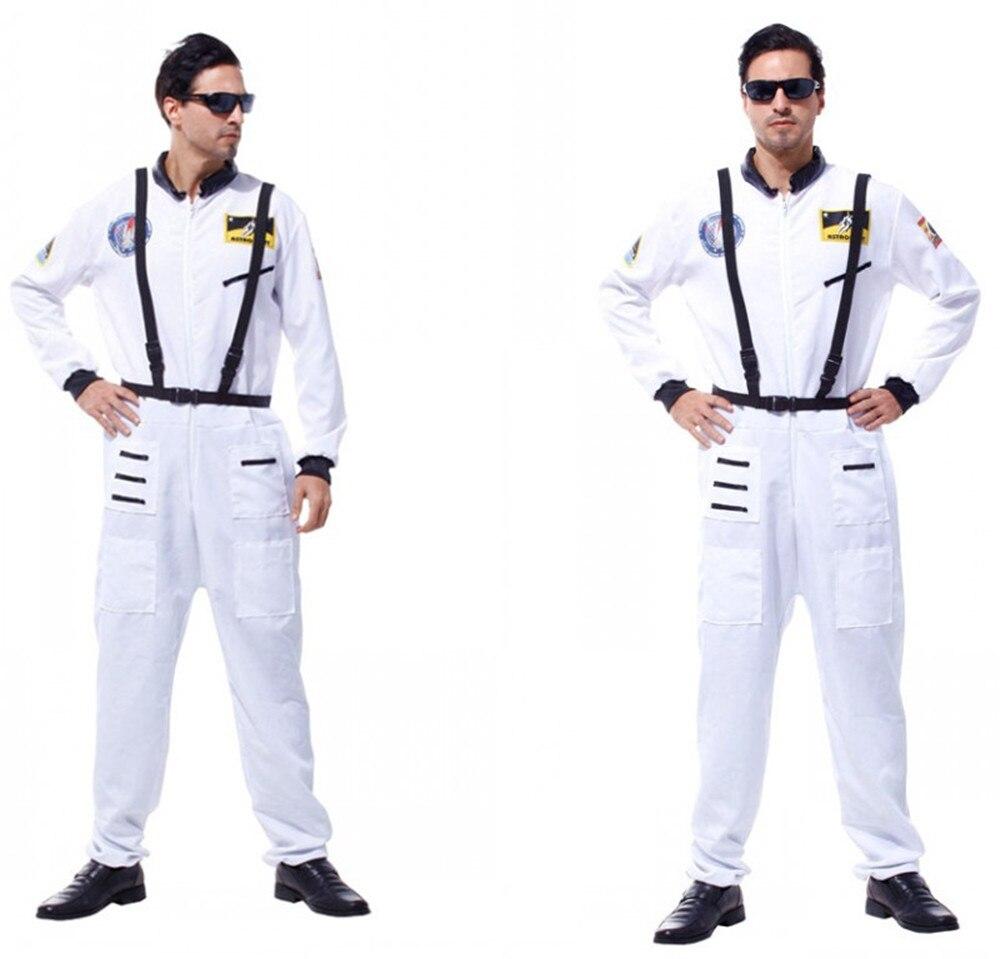 Аниме Хэллоуин вечерние костюмы астронавтов для взрослых мужчин оранжевый космический полёт комбинезон наряд