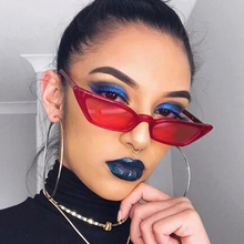 The new cat eye sunglasses star Street pop glasses personality small box Europe and the United States fashion women