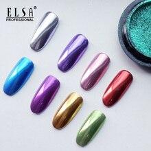 ELSA Super Shine Nail Glitters Mirror Titanium Powder Rose G