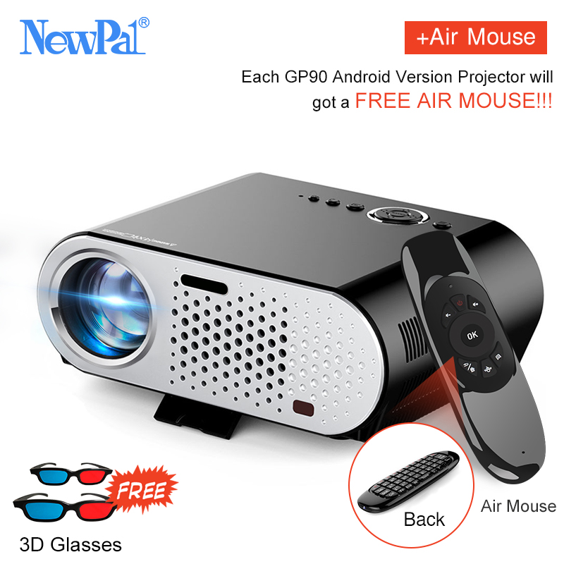 Newpal 3200 Lumens LED Projector With Android Bluetooth WIFI 1280 800P Miracast AC3 Mini Beamer Proyector