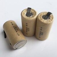 10-16 قطع 1.2 فولت بطارية sc قابلة الفرعية c حجم 3000 مللي أمبير mh ni mh الخليوي مع التبويب لحام دبوس ل المثقاب الكهربائي فراغ نظافة