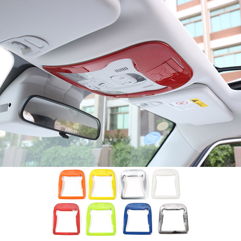 MOPAI Car Interior ABS Reading Light Decoration Trim Cover With Card Slot Stickers For Jeep Renegade 2015 Up Car Styling цена и фото