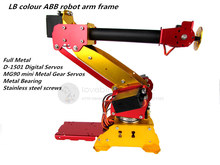 The newest LB colour ABB Industrial robots scaled model 6 DOF robot arm Full Metal + Digital Servos for Teaching and Experiment