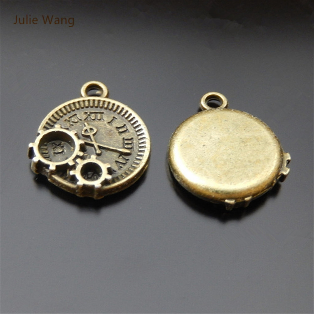100pcs Tibetan Silver Flat Round With Cross Alloy Pendants Metal Charms 20x16mm