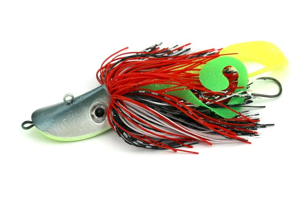 10pcs/lot 80g mixing colors Bigger Lead Head Hook with soft bait Jig Head Hook Soft Bait Lead Fishing Tackle Accessories