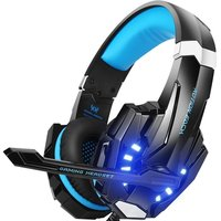 Stereo Gaming Headset PS4 PC Xbox Controller Noise Cancelling Over Ear Headphones Mic LED Light Bass Surround Soft Memory Laptop