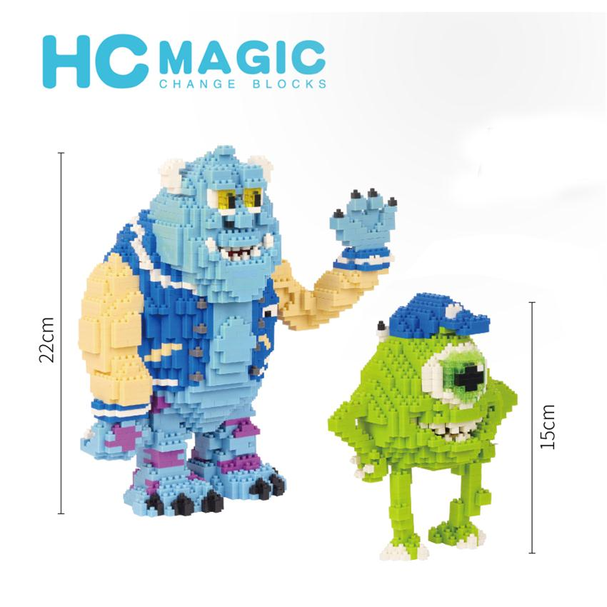 HC Magic Blocks Cartoon Building Toy Mike and James Model Anime Auction Figures Christmas Brinquedo Toys for Children Gifts 1021 image