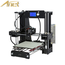 Anet A6 impresora 3d printer Kit Aluminum Heated Reprap Prusa i3 3D Printer DIY Kit With Free Filament 16GB SD card+LCD screen