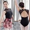 Балетное трико для женщин, новинка 2020, черный цвет, эластичный тренировочный танцевальный костюм для взрослых, высокое качество