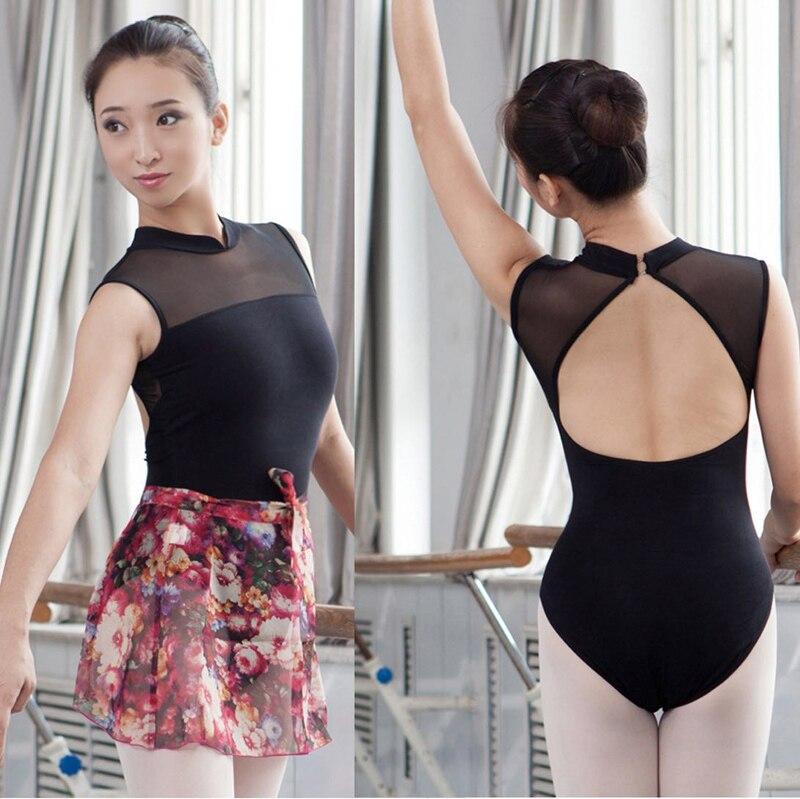 Μπαλέτο Leotard για γυναίκες 2020 Ne'w Μαύρο Χρώμα Ελαστική πρακτική Κοστούμια χορού Ενήλικες υψηλής ποιότητας Μπαλέτο γυμναστική κορμάκια