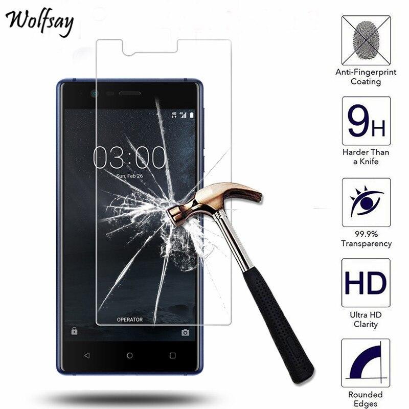 2PCS Glass For Nokia 3 Screen Protector Tempered Glass For Nokia 3 9H Protective Glass Phone Film For Nokia 3 TA-1020 TA-1032