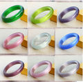 Fashion Cute Pink/White Opal Cat Eyes Stone Bangle Fashion Vintage Jewelry Natural Stone Opal Bracelet Gift For Women And Girl