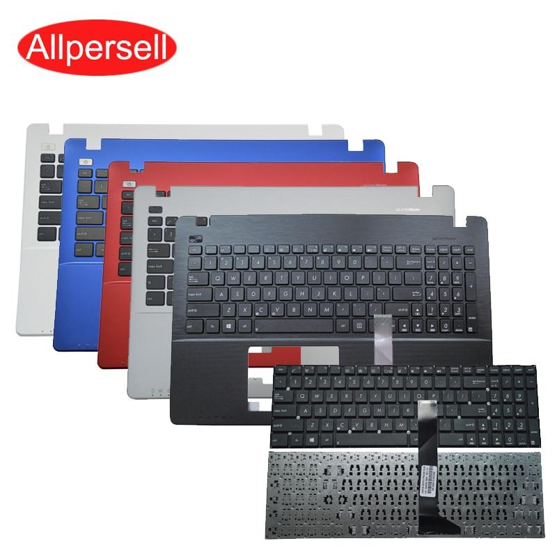 Laptop Keyboard For ASUS X550 K550V X550C X552E A550L Y581C F550 R510J A550C Brand New Palm Rest Shell Keyboard Border