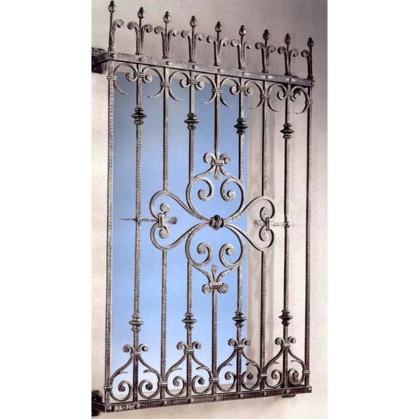Wrought Iron Window Grill Design For Safety-in Windows