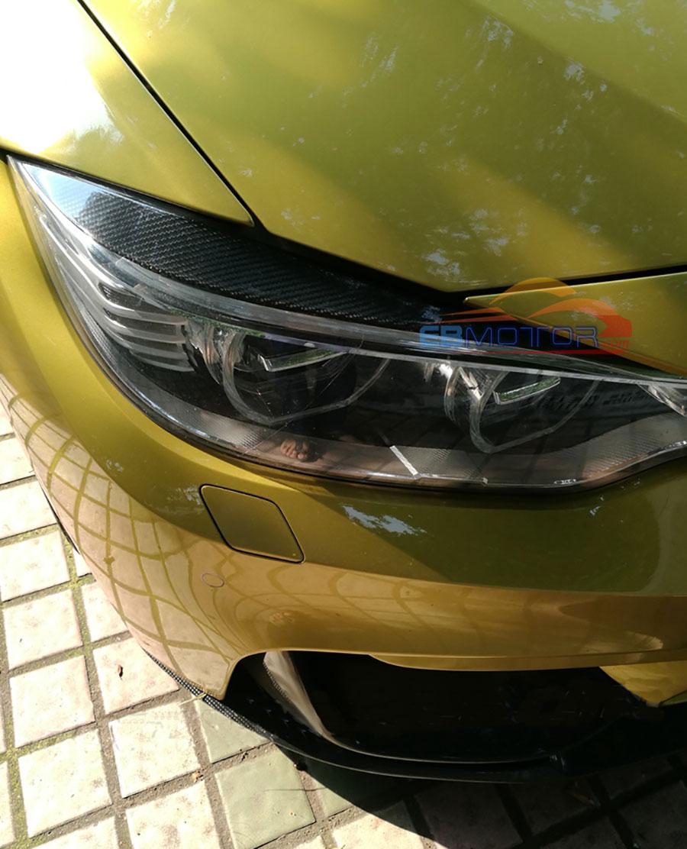 BMW M4 M3 Carbon Fibre Headlight Covers Eyebrows Eyelids F80 F82 F83 F32 F34