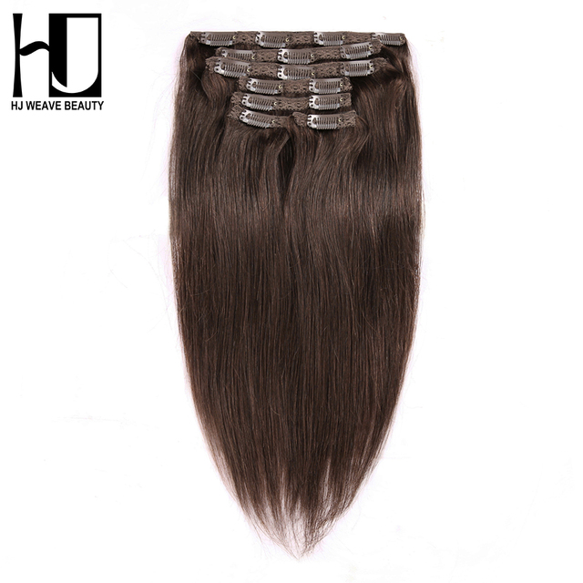 Hj Weave Beauty Clip In Hair Extensions Straight 100 Human Hair