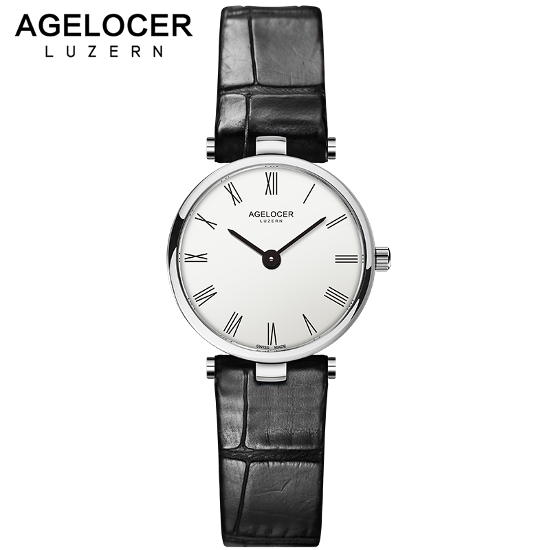 AGELOCER Women Watches Fashion Swiss Brand Watch Luxury Small Utra Slim Casual Waterproof Clock Dress Relogio Feminino Watches swiss fashion brand agelocer dress gold quartz watch women clock female lady leather strap wristwatch relogio feminino luxury