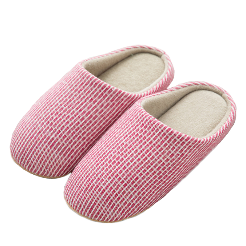 27e17a6e5cb2 Christmas Winter Home Slippers Women Cotton Linen Flip Flops Home Shoes  Woman Anti-slip Slides Indoor Slippers Pantoufle Femme