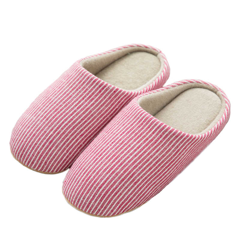 51831c804cc Christmas Winter Home Slippers Women Cotton Linen Flip Flops Home Shoes  Woman Anti-slip Slides