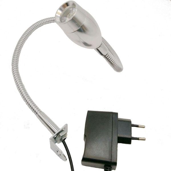 12V/24V/110V220V 2W Flexible Arm Inspection Table Light With Plug