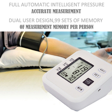 Full Automatic Digital Upper Arm Blood Pressure Monitor Heart Beat Rate Pulse Meter Tonometer Sphygmomanometers pulsometer