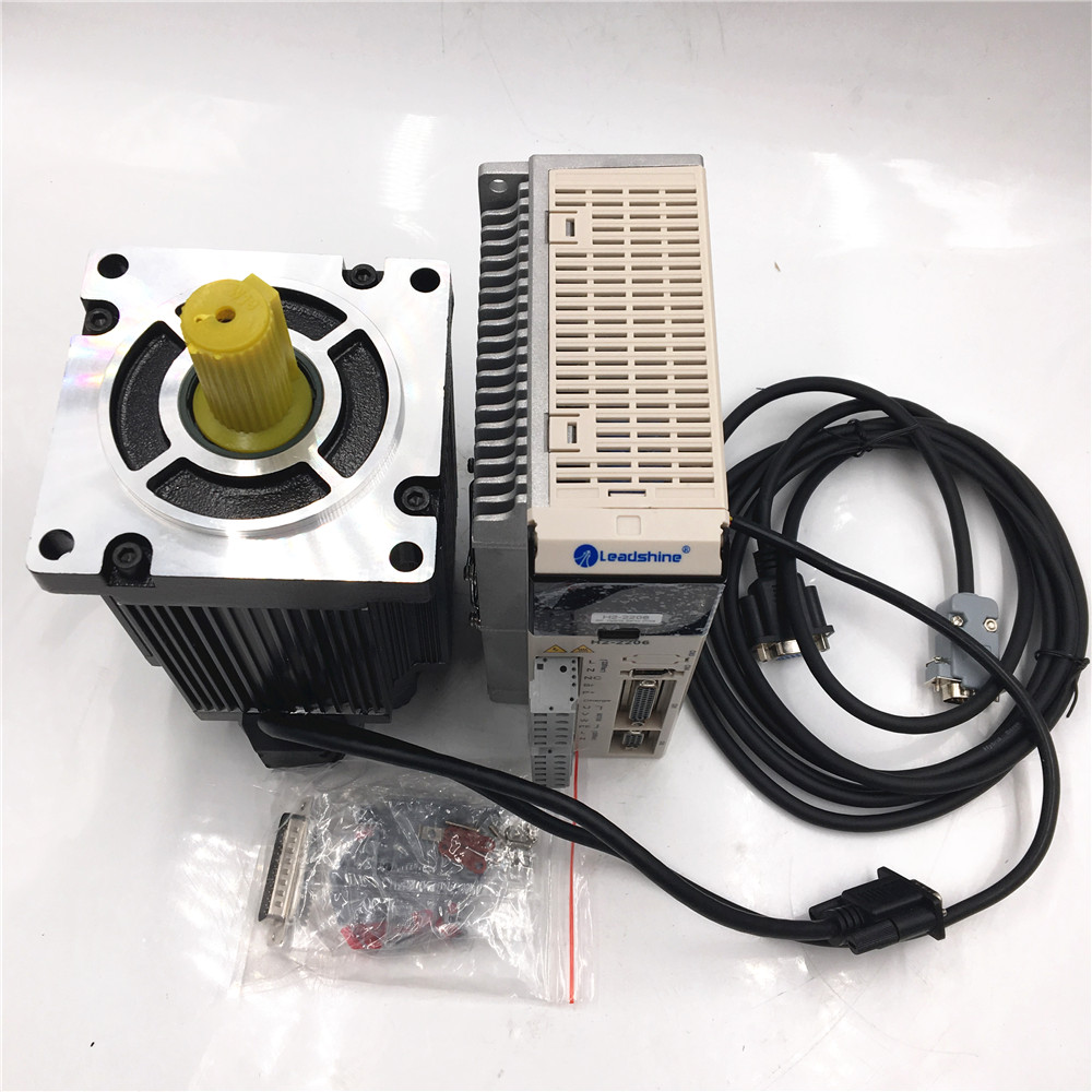 Nema42 20Nm 3ph Stepper Motor Closed loop Hybrid Easy Servo Driver Kit + 3meter Encoder Cable Leadshine ES-MH342200+ES-DH2306 nema23 3phase closed loop motor hybrid servo drive hbs507 leadshine 18 50vdc new original
