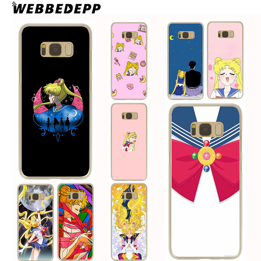 WEBBEDEPP Pretty Guardian Sailor Moon Cover Case for Samsung Galaxy S9 S8 Plus S7 S6 Edge Plus S5 S4 S3