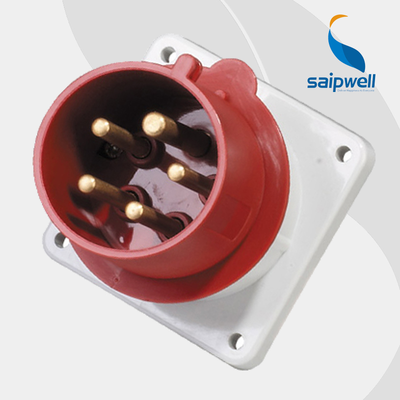 32A 400V 5P (3P+N+E) waterproof socket outlet 32 amp