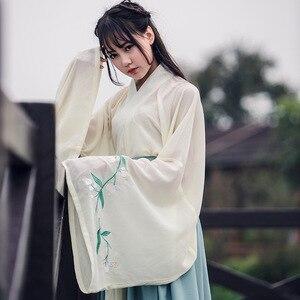Image 4 - Chińskie tradycyjne wróżki kostium starożytna dynastia han księżniczka odzież narodowy strój Hanfu strój sceniczny ludowy kostium taneczny 90