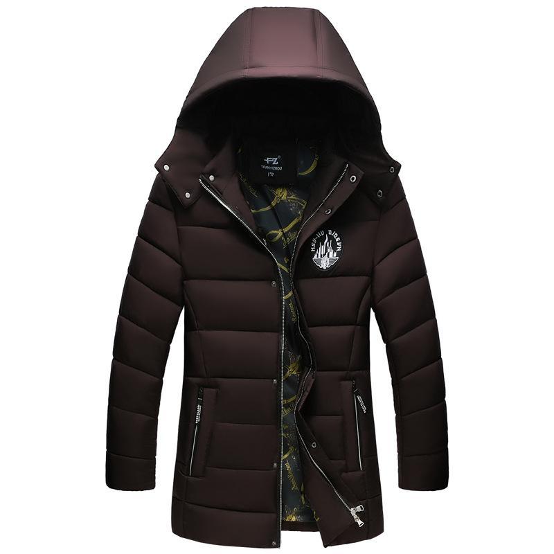 цены на Winter Men Hooded Thickening Coat Warm Jacket Man's Coat Autumn Cotton Parka Outwear Coat Free Shipping Men Winter Jacket 2331 в интернет-магазинах