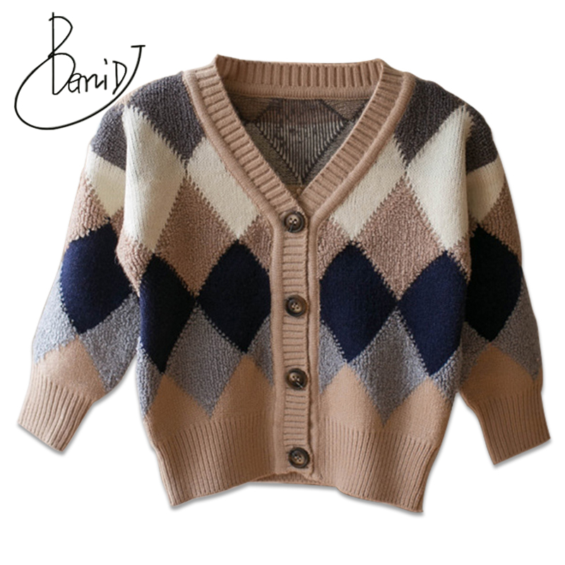 2018 Children's sweater autumn winter kids V-Neck Cotton Boys girls Casual cardigan sweater children's fashion Tops clothing mens v neck button up cardigan