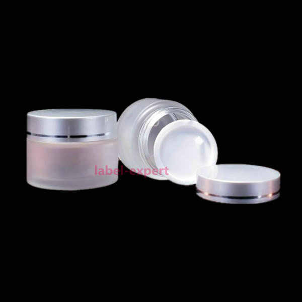 Frosted Silver Glass Jars, Frost Cream Jars, Skin Care Cream Bottles,10G 20G