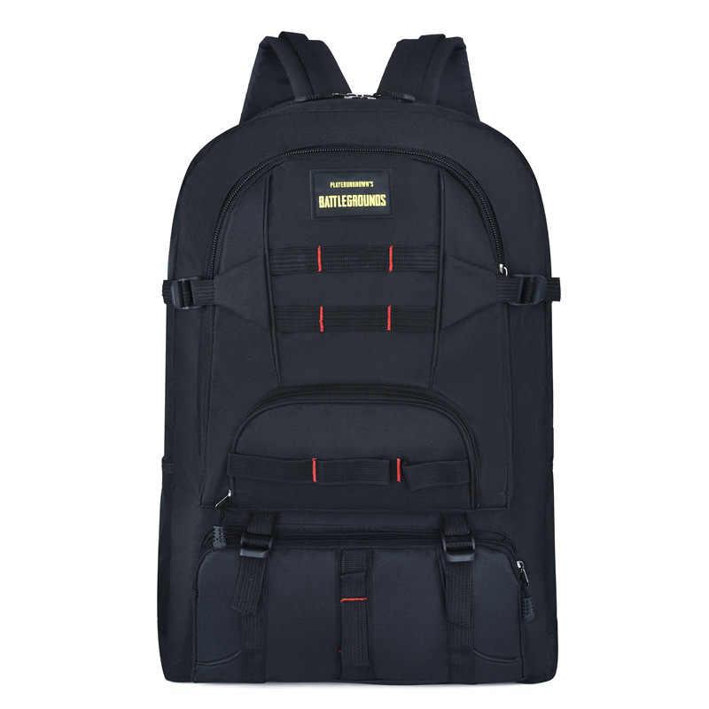 Большая вместительная наружная альпинистская сумка многофункциональный мужской и женский износостойкий водонепроницаемый нейлоновый рюкзак