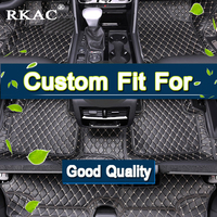RKAC Custom fit 3D Car floor mats for AUDI Q7 7 SEATS carpet floor liner WATERPROOF Mats & Carpets LEATHER GOOD QUALITY