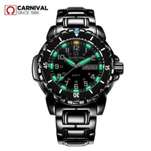 Relojes de buceo militares impermeables para hombre, cronógrafo de cuarzo, luminoso, tritio, marca de lujo, Suiza, saat, 200M